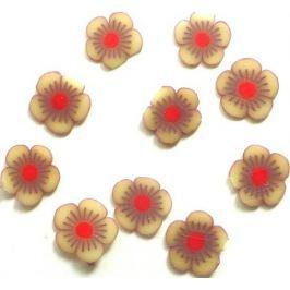 Professional Ozdoby na nehty květiny hnědo-červené 132 1 balení