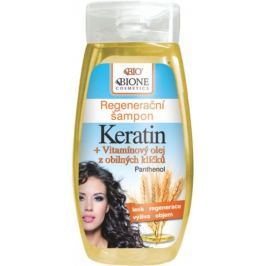 Bione Cosmetics Keratin & Obilné klíčky regenerační šampon 260 ml