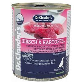 Dr. Clauders Jelení maso a brambor kompletní superprémiové krmivo pro dospělé psy pro zdravou kůži a krásnou srst 800 g