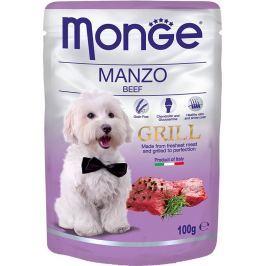 Monge Dog Grill hovězí kapsička 100 g