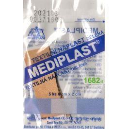 Mediplast textilní náplast dělená 6 cm x 2 cm 5 kusů