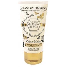 Jeanne en Provence Beurre de Karité & Miel Bambucké máslo a med extra výživný a hojivý krém na ruce 75 ml
