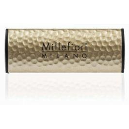 Millefiori Milano Icon Incense & Blond Woods - Kadidlo a světlá dřeva Vůně do auta Metal zlatá voní až 2 měsíce 47 g