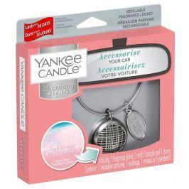Yankee Candle Pink Sands - Růžové písky vůně do auta kovová stříbrná visačka Charming Scents set Linear 13 x 15 cm, 90 g