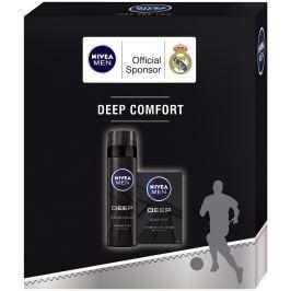 Nivea Men Deep voda po holení pro muže 100 ml + Deep pěna na holení 200 ml, kosmetická sada