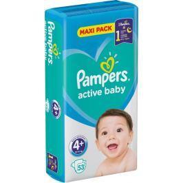 Pampers Active Baby 4+ Maxi Plus 10-15 kg plenkové kalhotky 53 kusů