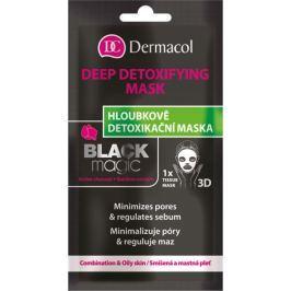 Dermacol Black Magic Tissue Detoxifying Mask textilní detoxikační maska 15 ml