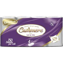 Big Soft Cashmere Soft & Silk toaletní papír 4 vrstvý 150 útržků 8 rolí