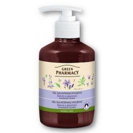 Green Pharmacy Šalvěj a Lantoin gel na intimní hygienu uklidňující účinek 370 ml