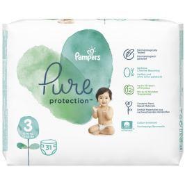 Pampers Pure Protection velikost 3, od 6-10 kg plenkové kalhotky 31 kusů