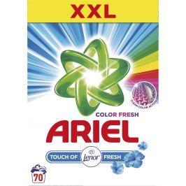 Ariel Color Touch of Lenor Fresh prací prášek na barevné prádlo krabice 70 dávek 5,25 kg