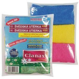 Clanax Sonic Švédská utěrka mikrovlákno 30 x 30 cm 180 g/m2 3 kusy