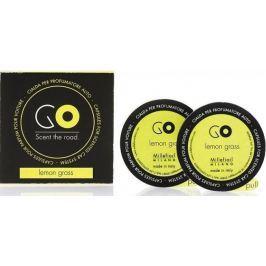 Millefiori Milano Go Lemon Grass - Citronová tráva vůně do auta náhradní náplň, voní až 2 měsíce 2 x 13 g