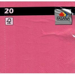 Fasana Papírové ubrousky barevné růžové 3 vrstvé 33 x 33 cm 20 kusů