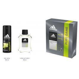 Adidas Pure Game voda po holení 50 ml + deodorant sprej pro muže 150 ml, kosmetická sada
