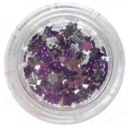 Professional Ozdoby na nehty kamínky kytička fialové 132