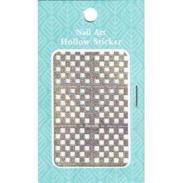 Nail Accessory Hollow Sticker šablonky na nehty multibarevné čtverečky 1 aršík 129