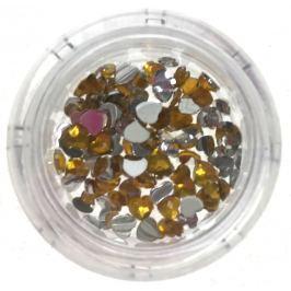 Professional Ozdoby na nehty kamínky srdce žluté 132