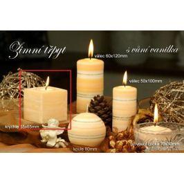 Lima Zimní třpyt Vanilka vonná svíčka krychle 65 x 65 mm 1 kus