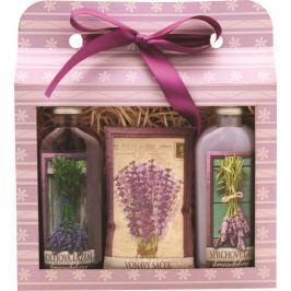 Bohemia Gifts Lavender sprchový gel 100 ml + olejová lázeň 100 ml + vonný sáček, kosmetická sada