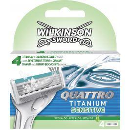 Wilkinson Sword Quattro Titanium Sensitive náhradní hlavice 4 kusy