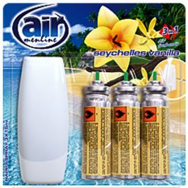 Air Menline Seychelles Vanilla Happy Osvěžovač vzduchu komplet + náplně 3 x 15 ml sprej
