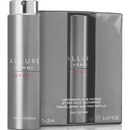 Chanel Allure Homme Sport Eau Extréme parfémovaná voda komplet pro muže 3 x 20 ml