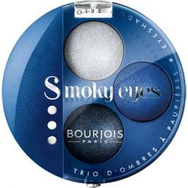 Bourjois Trio Smoky Eyes oční stíny 15 Bleu Nuit 4,5 g