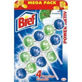 Bref Power Aktiv 4 Formula Borovice Freshness Wc blok Mega pack 3 x 50 g