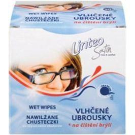 Linteo Satin Na čištění brýlí vlhčené ubrousky 14 x 14 cm 1 + 1 kus