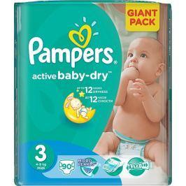 Pampers Active Baby Dry 3 Midi 4-9 kg plenkové kalhotky 90 kusů