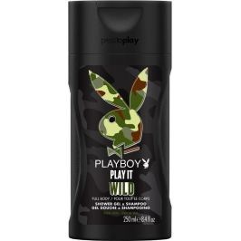 Playboy Play It Wild for Him 2v1 sprchový gel a šampon 250 ml