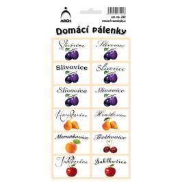 Arch Samolepky Domácí pálenky 12 etiket