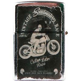 Bohemia Gifts & Cosmetics Retro zapalovač kovový benzínový s potiskem Speedmasters 5,5 x 3,5 x 1,2 cm