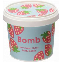 Bomb Cosmetics Jahodová pláň - Strawberry Fields přírodní tělový sprchový peeling 365 ml