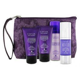 Alterna Caviar Experience Travel Kit šampon 40 ml + kondicionér 40 ml + regenerační maska 30 ml + lak na vlasy 50 ml + taška, cestovní dárková sada