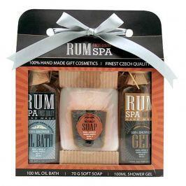 Bohemia Gifts Rumová kosmetika sprchový gel 100 ml + ručně vyráběné tuhé mýdlo (panák) + olejová lázeň 100 ml, kosmetická sada
