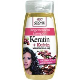 Bione Cosmetics Keratin & Kofein regenerační šampon na vlasy 250 ml