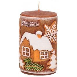 Candles Vánoční perník vonná svíčka válec 60 x 100 mm