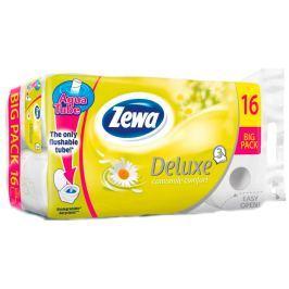 Zewa Deluxe Aqua Tube Delicate Camomile Comfort parfémovaný toaletní papír 3 vrstvý 150 útržků 16 kusů, rolička, kterou můžete spláchnout