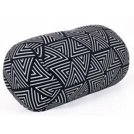 Albi Relaxační polštář Geometrický vzor černobílý 33 x 16 cm