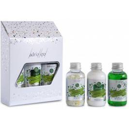 Adria Spa Citronová tráva & Pomeranč Intenzivní sprchový gel 50 ml + koupelová sůl 50 ml + tělové mléko 50 ml, Cestovní mini sada