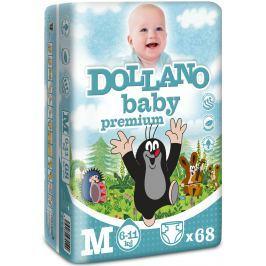 Dollano Baby Krtečkovy plenky Premium M 6-11 kg plenkové kalhotky 68 kusů