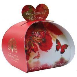 English Soap Začarované květy Přírodní parfémované mýdlo s bambuckým máslem 3 x 20 g