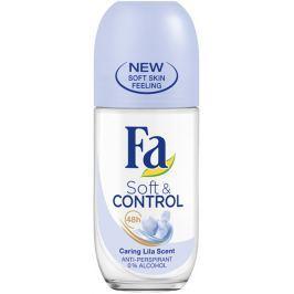 Fa Soft & Control Lila Scent kuličkový antiperspirant deodorant roll-on pro ženy 50 ml