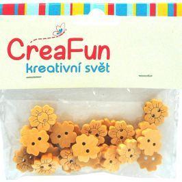 CreaFun Dřevěné knoflíky Slunečnice 15 mm 25 kusů