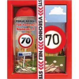Bohemia Gifts & Cosmetics Vše nejlepší 70 sprchový gel 300 ml + ručně vyráběné toaletní mýdlo 55 g, kosmetická sada