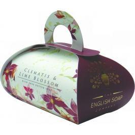 English Soap Clematis & Lime Blossom Přírodní parfémované mýdlo s bambuckým máslem 260 g