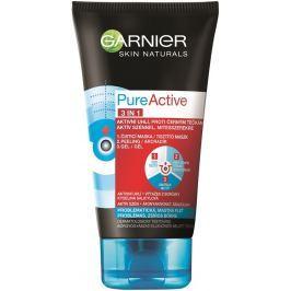 Garnier Skin Naturals Pure Active 3v1 aktivní uhlí proti černým tečkám 150 ml