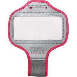 Lacoste L.12.12 Sports Armband pouzdro na mobil na ruku šedo-červený 15,3 x 7,5 cm